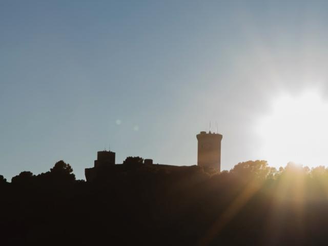 Castillo de Bellver - Vista desde la Clínica Luz